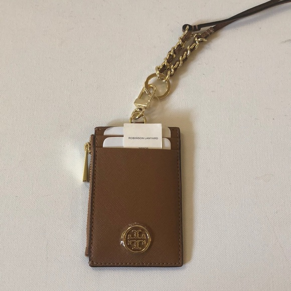 d749b1f7e93f NWT Tory Burch Robinson lanyard card holder.